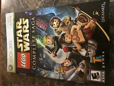 Lego Star Wars Complete Saga - Xbox 360 - Instruction Manual Only