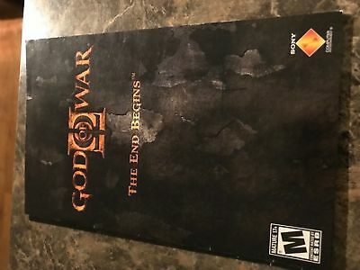 God Of War Ii The End Begins - Playstation 2 Ps2 - Instruction Manual Only