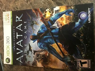 Avatar The Game - Xbox 360 - Instruction Manual Only