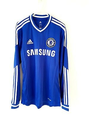 Chelsea Home Shirt 2013. Small Adults. Adidas. Blue Long Sleeves Football Top S.