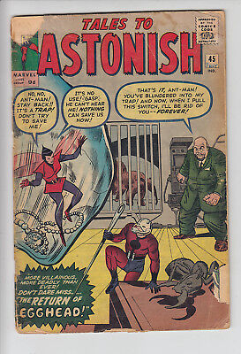 TALES to ASTONISH  V1 #45   VG+ / VG  ANT MAN 1963  AMERICAN MARVEL COMIC   A