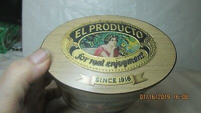El ProductoCugar Tin, by Consolidated Cigar Co., New York, Can Made in England