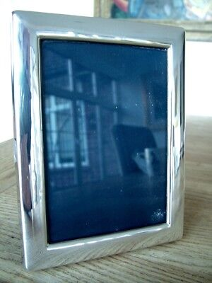 """VINTAGE 5"""" x 3.5"""" ENGLISH HM1992 SOLID SILVER PHOTO PICTURE FRAME CARR'S NO RES"""