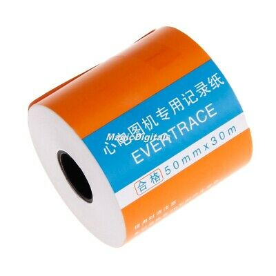 1 Roll 50mm*30m Print Paper For CONTEC ECG Machine ECG80A ECG90A Patient Monitor