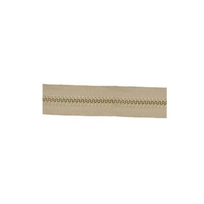 Molded Tooth Zippers - 25 Yards - size: #8 - TAN