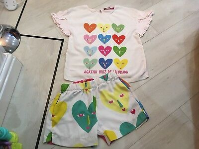 Girls Designer Prada Outfit Top And Shorts Age 12 Years