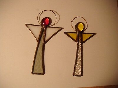 Stained Glass Angel Window Ornament x 2