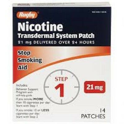 Rugby Nicotine Transdermal System STEP 1 21mg 28 Patches Stop Smoking 12/2019
