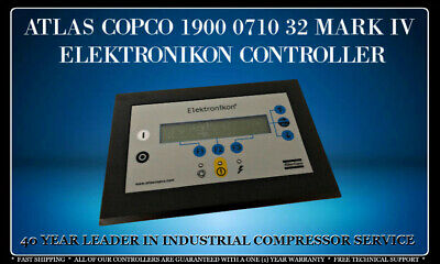 Atlas Copco 1900 0710 32 Mark Iv Programmed With Your Compressor's Settings