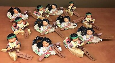 Friends of a Feather Native Americans In Canoes Multiple States Lot Of 12