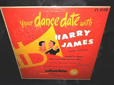 """Your Dance Date With Harry James & His Orchestra 10"""" MONO 1950 VINYL & COVER VG"""