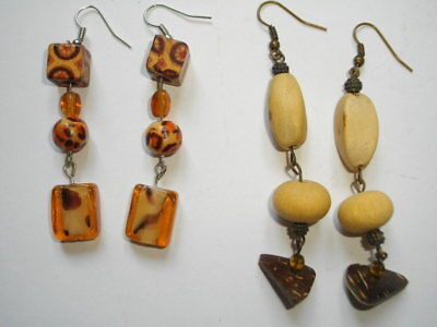 2 paires Boucles d'Oreilles-2 pairs Earrings/ Ohrringe/ Orecchini NEW-NEUF    S7