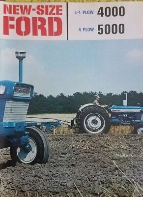Free shipping ~1966 Ford 4000-5000 Tractor Brochure, New old stock