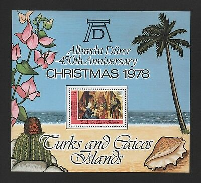 Turks & Caicos 1978 Christmas - Paintings By Durer M/sheet *vf Mnh*