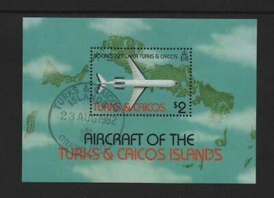 Turks & Caicos 1982 Aircraft M/sheet *used/cto First Day Issue*