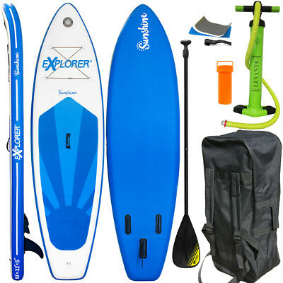 Explorer Stand Up Paddle Surfboard 305Cm Inflatable Paddel Pumpe Sup Isup Aqua
