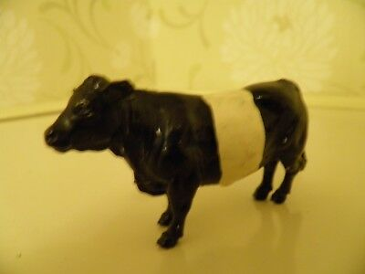 Britains Ltd Made In England Black And White Belted Galloway Cow Farm Animal