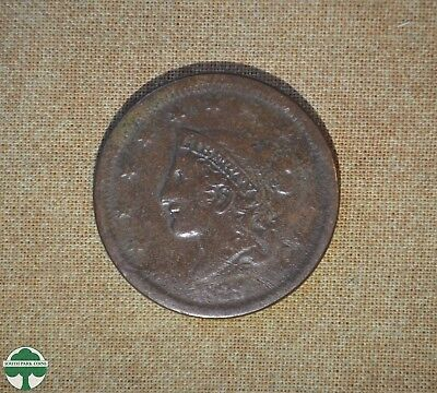 1839 Coronet Head - One Cent - About Good Details