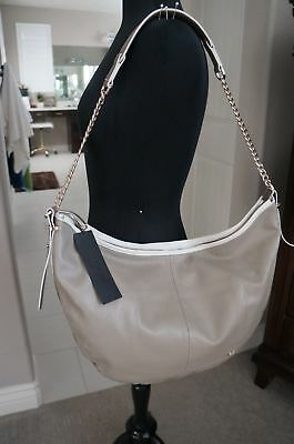 NEW Halston Heritage 2 Tone Brown Taupe SOFT Leather Large Sack Hobo Hand Bag