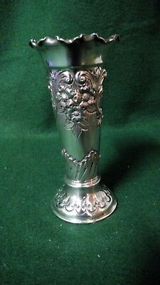 "5"" Epbm Bud Vase  - Britannia Metal  James Dixon & Sons"