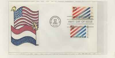 US - Hand-painted FDC Lot # 58