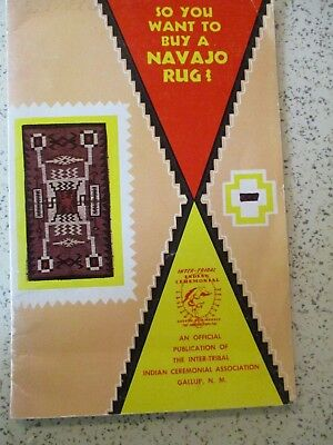 """1959 Booklet """"so You Want To Buy A Navajo Rug"""", Gallup, New Mexico"""