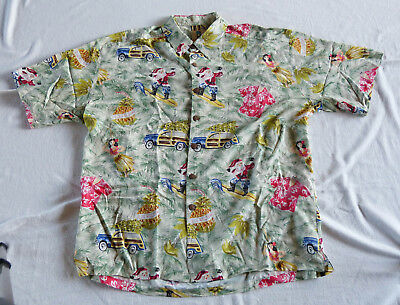 Kahala Christmas Hawaiian shirt, made in Hawaii XL
