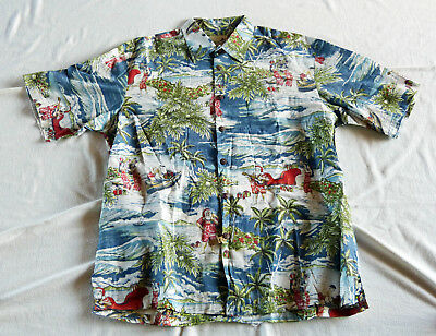 """Kahala 1936"" Christmas Hawaiian shirt, made in Hawaii XL"