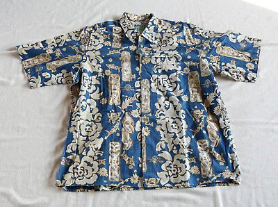 Reyn Spooner Hawaiian Traditionals Tiki shirt XL