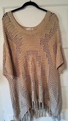 64084f53d7 LADIES SAGE HARBOR short sleeve 1X tan sweater -  8.99