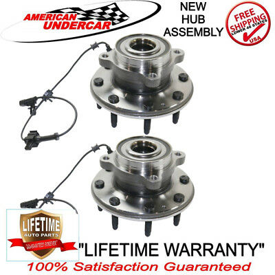 Front (2) Wheel Hub Bearing Assembly For 2011-2016 GMC SIERRA 2500HD 3500HD Pair