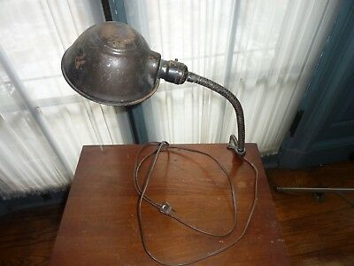 Antique bench mount work light Industrial clamp style