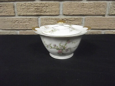 Theodore Haviland Rosalinde Made in America Sugar Bowl with Lid