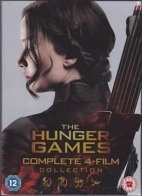 The Hunger Games: Complete 4-Film Collection (DVD, Super Action Movie Set)