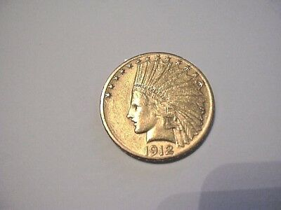 1912-s  $10 Gold Indian Head     nice coin    $795.00