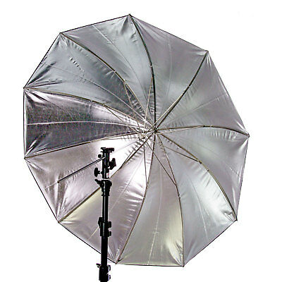 """GTX Studio 60"""" Black/Silver Umbrella with 10 Panels for Photography"""