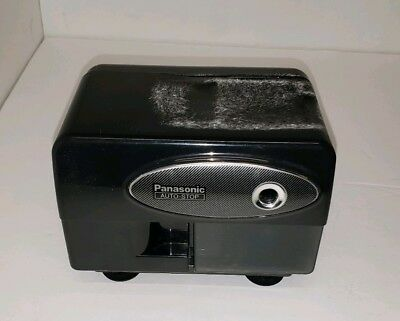 Panasonic KP-310 Electric Pencil Sharpener Auto-stop Black, Working, Top Damage