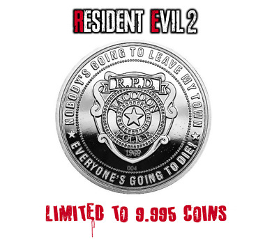 Resident Evil 2 HD Remake Limited Edition Coin Silver Edition only 9995 made!