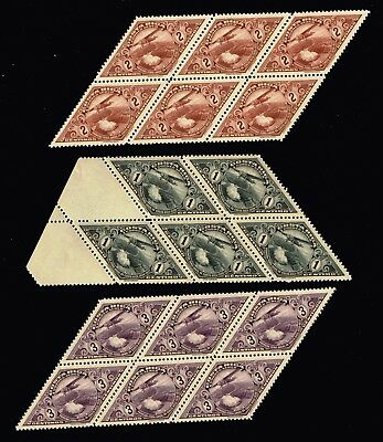 Costa Rica  Stamp Airmail  1st National Fair 1937  MNH/OG BLK OF 5,6 STAMPS LOT