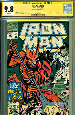 Iron Man #281 Cgc 9.8 Ss Series-Signed By Stan Lee-1St App Of War Machine Armor!