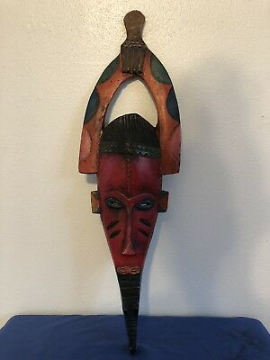 African  Wooden Mask, Guro , Antique