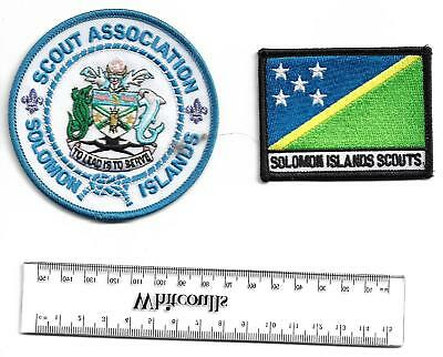 Solomon Islands national and national flag scout badges - patches