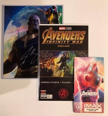 THANOS FRAMED PHOTO Signed By Josh Brolin Avengers Endgame