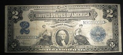1899 Two Dollar $2 Silver Certificate- Nice Note!