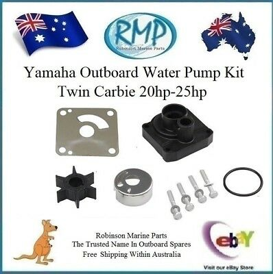 New RMP Yamaha Outboard Water Pump Kit Twin Carbie 20hp-25hp # R 6L2-W0078