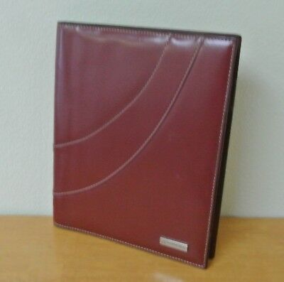RED Synthetic CLASSIC Wirebound Planner Cover FranklinCovey