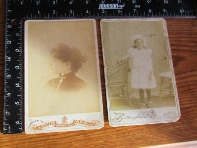 1890's African American woman and child cabinet photographs