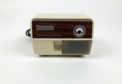 Vintage PANASONIC Electric Pencil Sharpener KP-110 Auto Stop Made in Japan