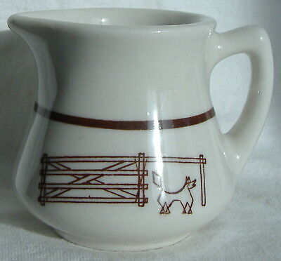 Wallace China Western Creamer Steer In Corral 10-R