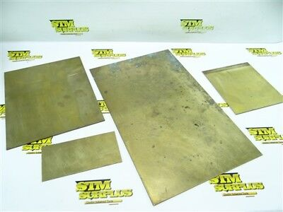 "7Lb Lot Of Assorted Brass Flat Stock .080"" Thick"